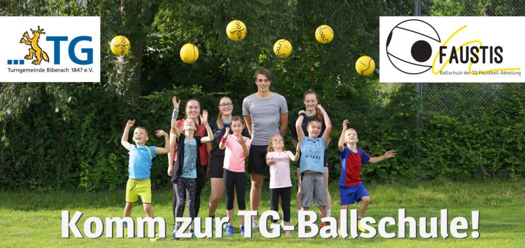 Faustis - Das Sportangebot der Abteilung Faustball der TG Biberach für 5-8 jährige Kinder. Klick aufs Bild für nähere Infos.